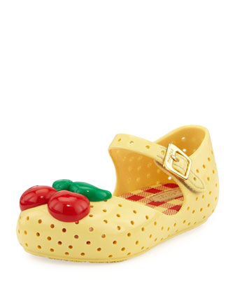 Furadinha Cherry Mary Jane Flat, Yellow