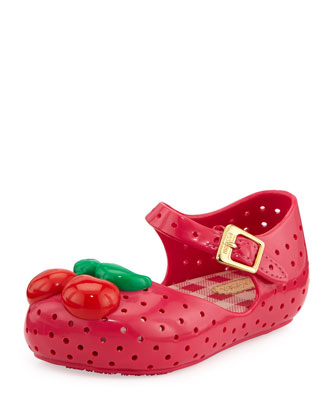 Furandinha Cherry Mary Jane Flat, Pink