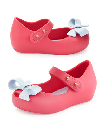 Mini Ultragirl Bow Jelly Flats, Pink, Girls' Sizes 5-10