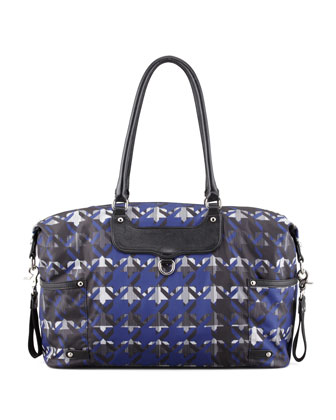 Kendra Nylon Diaper Bag, Royal Blue