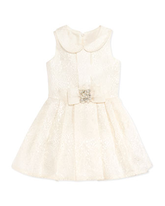 Brocade Party Dress, Ivory, Sizes 2-6