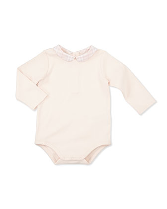 Peter Pan Collar Playsuit, Pink, 3-18 Months