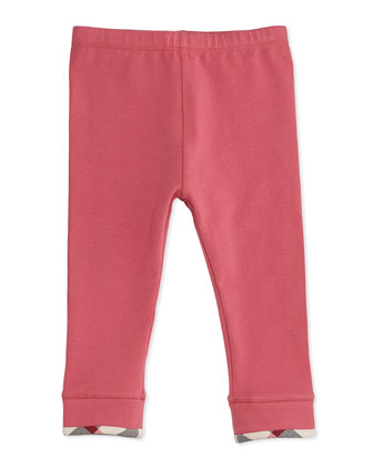 Check-Trim Leggings, Pink, 3-18 Months