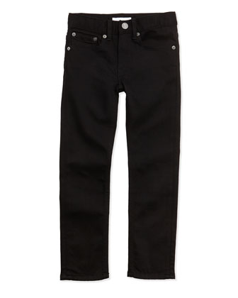 Skinny Five-Pocket Jeans, Black, 4Y-14Y
