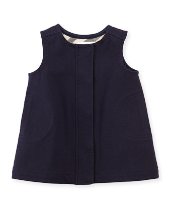 Sleeveless Shift Dress, Navy, 3-18 Months