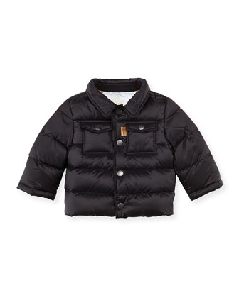 Nylon Puffer Coat, Black, 3M-2Y