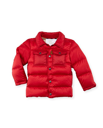 Boys' Puffer Coat, Red, 4Y-10Y