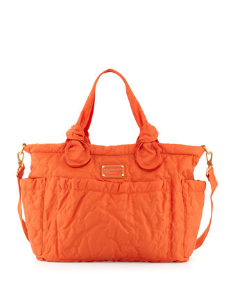 Preppy Nylon Eliz-A-Baby Diaper Bag, Orange