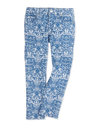 The Skinny Jacquard Girls' Jeans, 2T-4T