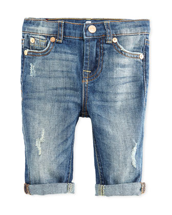 Girls' Josefina Skinny Jeans, Blue, 12-24 Months