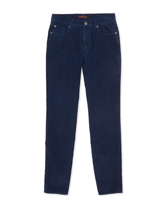Standard Corduroy Jeans, Navy, Sizes 2-4