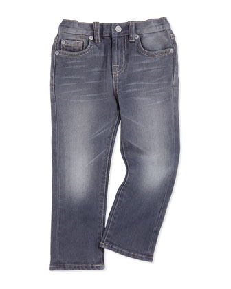 Straight-Leg Jeans, Vesper Gray, Sizes 2-4