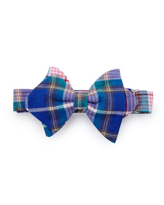 Plaid Baby Bow Tie, Blue