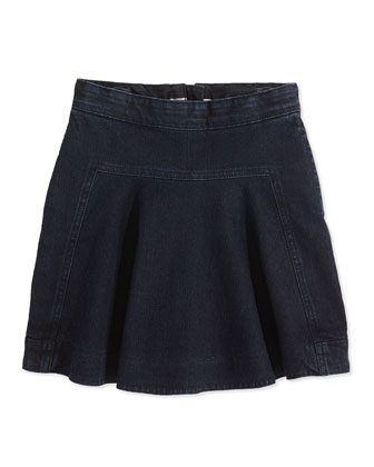 Pleated Denim Skirt, 2Y-14Y