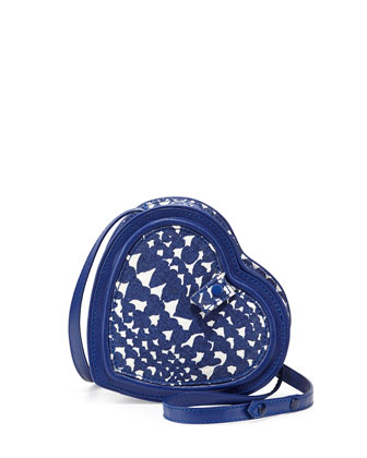 Girls' Heart-Shaped Crossbody Bag, Blue