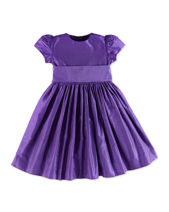 Taffeta Party Dress, Violet, Girls' 2Y-10Y