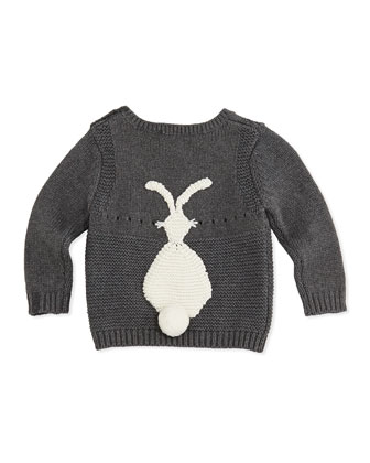 Baby Bunny Sweater, Gray, 3-24 Months