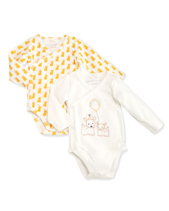 Birdie Baby Long-Sleeve Playsuit Set, Ivory, 3-18 Months