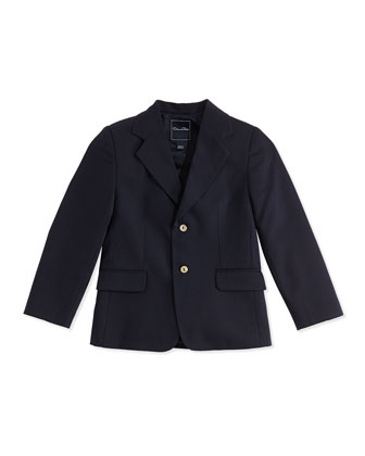 Wool 2-Button Blazer, Wool, 2Y-10Y