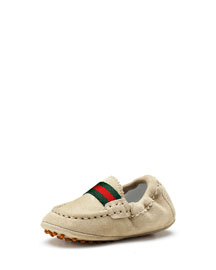 Baby Dandy Driving Shoes, Ivory