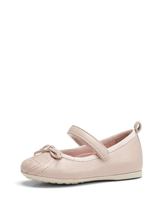 Toddler Soho Leather Ballet Flat, Pink