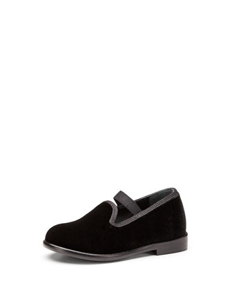 Toddler Velvet Slip-On Loafer, Black
