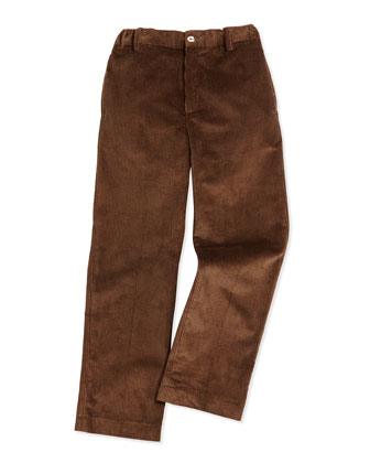 Endine Corduroy Classic Pants, Brown, Boys' 2Y-10Y