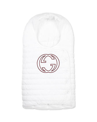 Infant Sleeping Bag with Interlocking G, White,