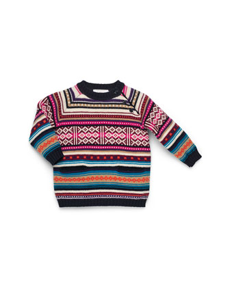 Multicolor Knit Sweater Dress, Girls' 0-36 Months