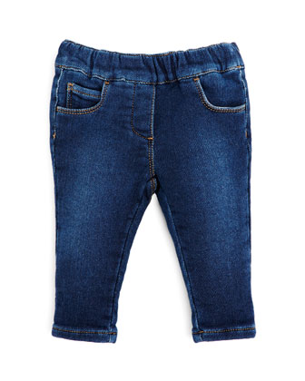 Stretch-Denim Leggings, Girls' 0-36 Months