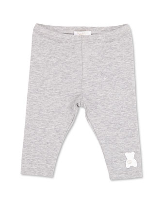 GG Teddy Stretch Leggings, Gray, Girls' 0-36 Months