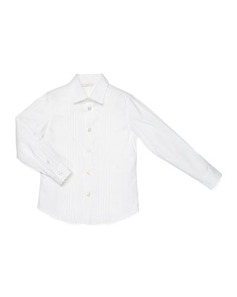 Long-Sleeve Formal Shirt, White, Kids' Sizes 4-12