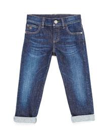 Stretch-Denim Jeans, Kids' Sizes 4-12