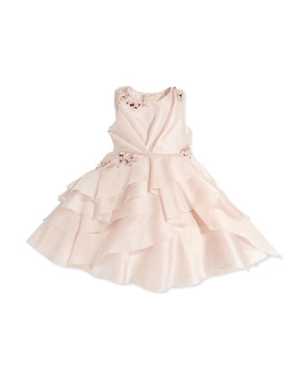 Crystal-Embellished Organza Dress, Girls' 4-7
