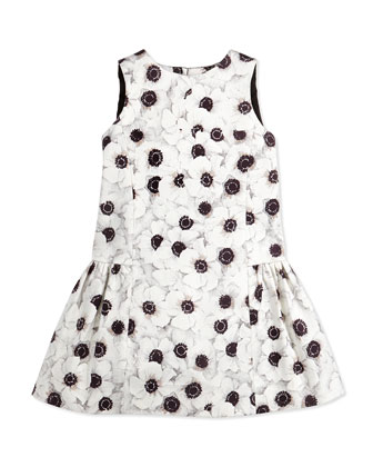 Camellia Bow-Back Party Dress, Girls' 8-12