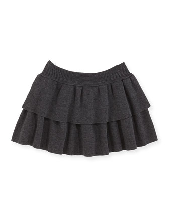 Tiered Knit Skirt, Sizes 8-12