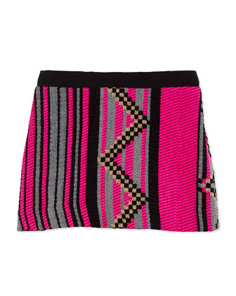 Jacquard Miniskirt, Girls' 2-7