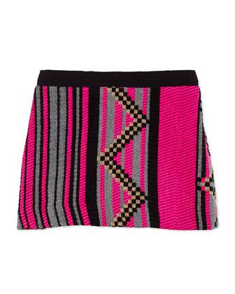 Jacquard Miniskirt, Girls' 8-12