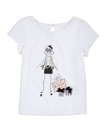 Girlie Graphic-Print Tee, Girls' 2-7
