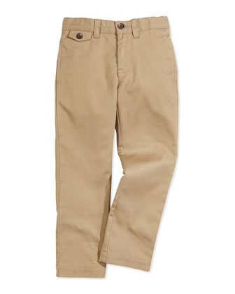 Lightweight Chino Pants, Boating Khaki, Boys' 4-7
