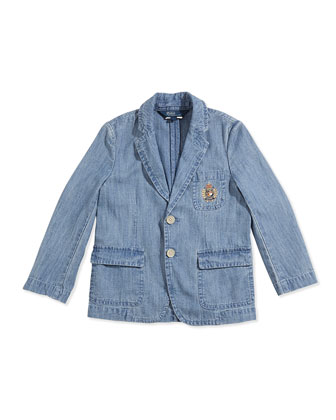 Puckered Chambray Sport Coat, Boys' 4-7