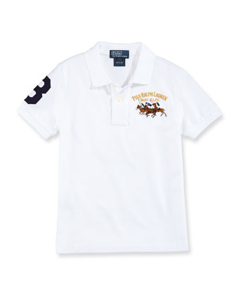 Mesh Match-Embroidered Polo, Boys' 2T-3T