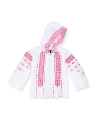 Gauze Boho Hooded Top, Girls' 2T-3T