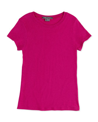 Girls' Favorite Tee, Fuchsia, 4-6X