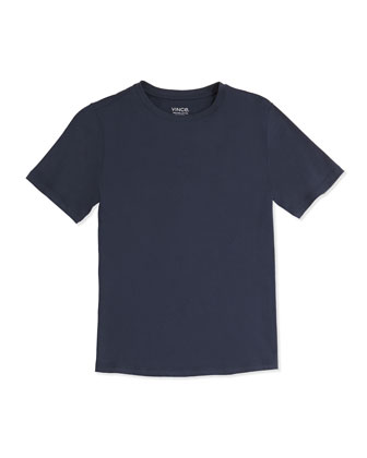 Boy's Favorite Crewneck Tee, Navy, S-XL