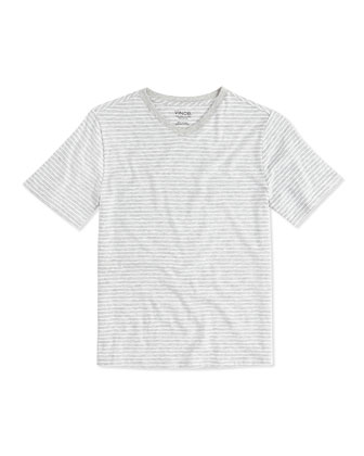 Boy's Favorite V-Neck Tee, Gray, S-XL