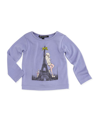 La Pose Long-Sleeve Tee, Lavender, Girls' 2-6