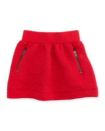 La Rose Knit Skirt, Red, Girls' 2-6
