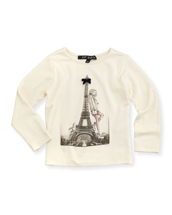 La Pose Long-Sleeve Tee, Ivory, Girls' 8-12