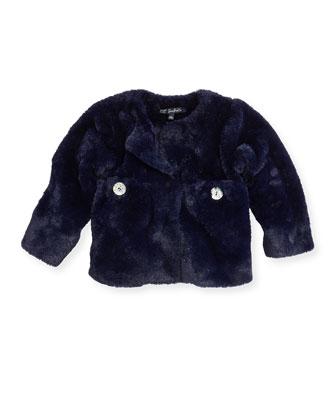 Lado Faux-Fur Jacket, Blue, Girls' 8-12